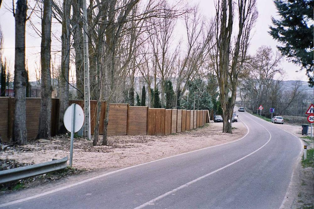 Pantallas acusticas. Carabaña. Madrid