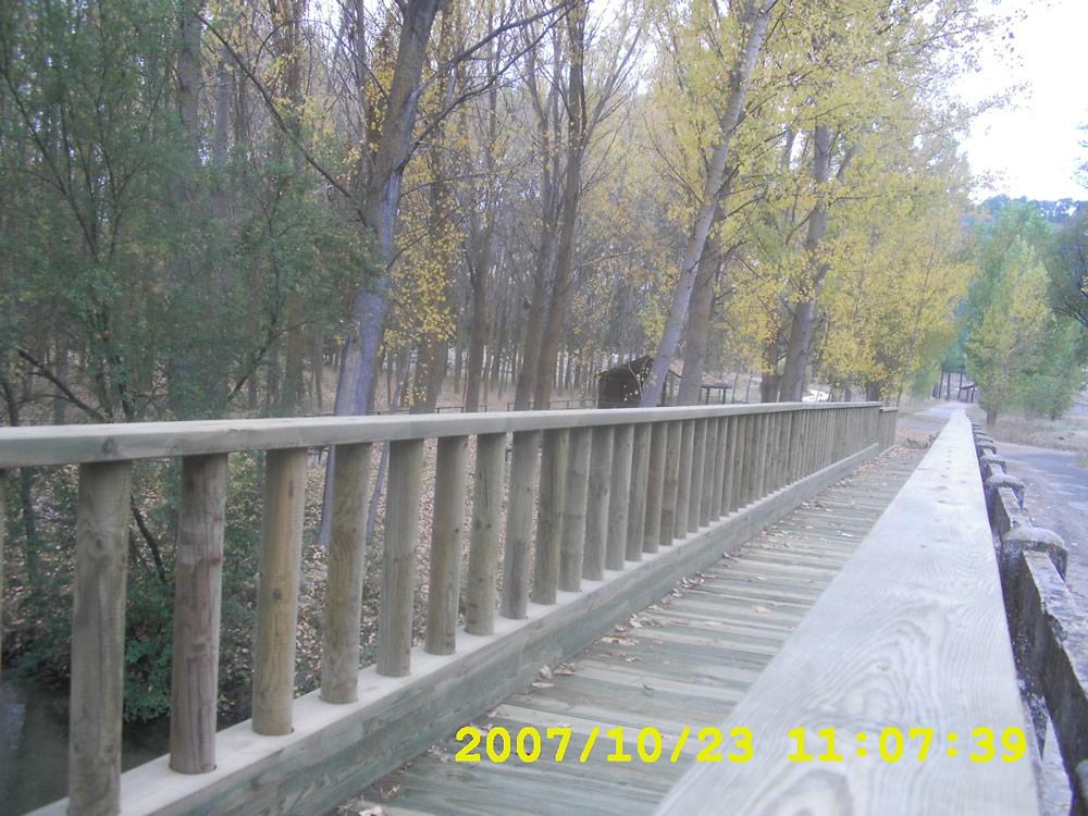 Pasarelas. Carrascal del Río. Segovia